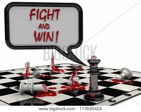 Chess battle. Fight and win!