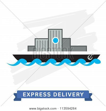 Express delivery vector illustration. Shipping service. Express delivery. Express delivery package. Post service, order. Symbol of shipping delivery. Shipping. Delivery goods. Express delivery sign. Delivery service. Delivery cargo.