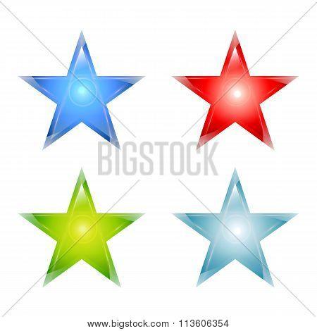 Stars maden from glass