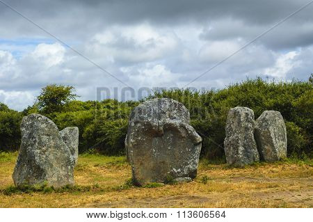 Carnac (brittany, France): Menhir And Dolmen