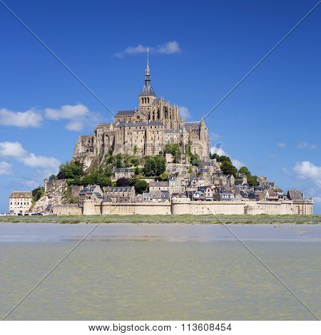 Mont-saint-michel With Blue Sky