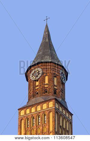 Clock Tower Of Catholic Church