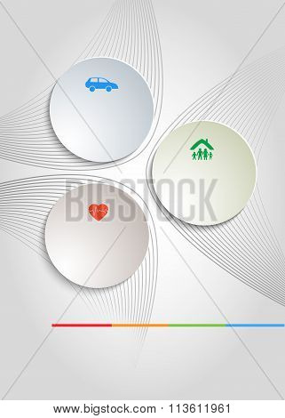 Background Insurance Flyer Template Cover Brochure