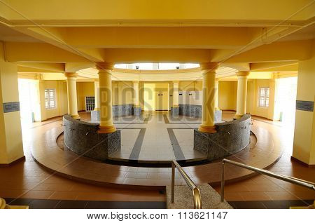 Ablution of of the Sultan Ismail Mosque in Muar, Johor, Malaysia
