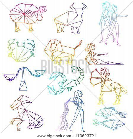 Zodiac Signs Line Art Set