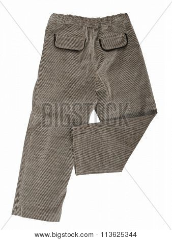 gray trousers isolated on white