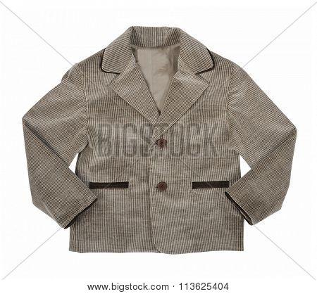 gray jacket isolated on white