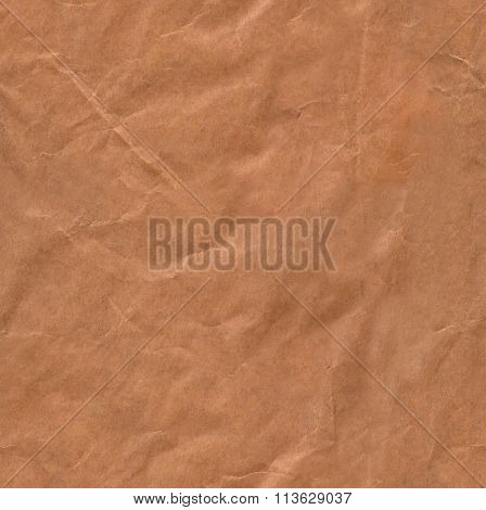 Seamless Crumpled Brown Paper Texture Abstract Background Pattern