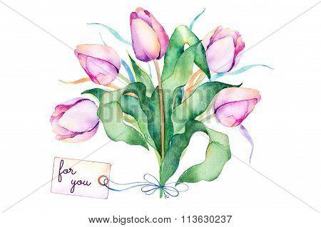 Pre-made Springtime greeting card