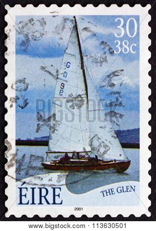Postage Stamp Ireland 2001 The Glen, Sailboat