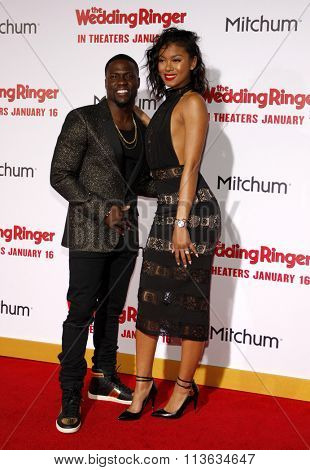 Kevin Hart and Eniko Parrish at the Los Angeles premiere of