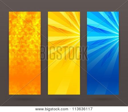 Set Vertical Banner Background Template Layout Flyer43