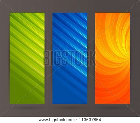Set Vertical Banner Background Template Layout Flyer49