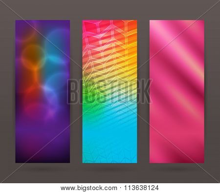 Set Vertical Banner Background Template Layout Flyer52