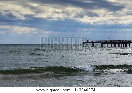 pier on the water of lake ontario