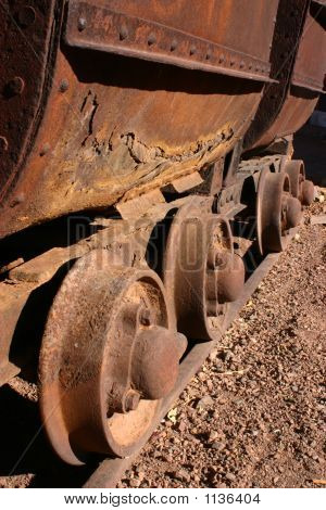 Antique Mining Car Wheels