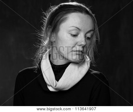 Young Sad Disoriented Woman