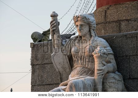 Female Sculpture At The Rostral Column