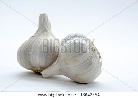 cloves of garlic on a bright background