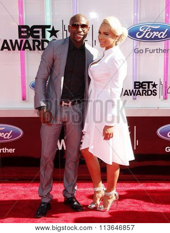 Floyd Mayweather Jr. at the 2014 BET Awards held at the Nokia Theatre L.A. Live in Los Angeles, USA on June 29, 2014.