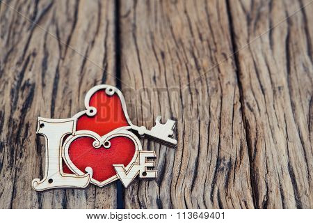Valentines Day or wedding background with love heart.