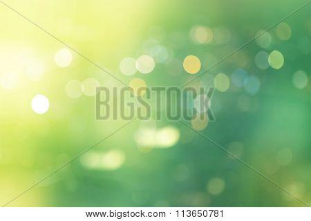 beautiful green natural circle abstract bokeh blurred light background.
