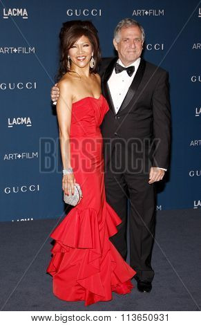 Julie Chen and Leslie Moonves at the LACMA 2013 Art + Film Gala Honoring Martin Scorsese And David Hockney Presented By Gucci held at the LACMA in Los Angeles, USA on November 2, 2013.