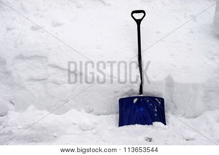 shovel and snow