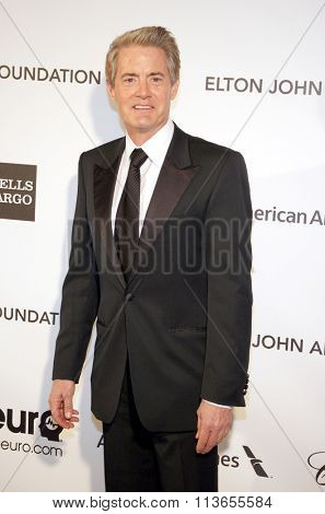 Kyle MacLachlan at the 21st Annual Elton John AIDS Foundation Academy Awards Viewing Party held at the West Hollywood Park in Los Angeles, USA on February 24, 2013.