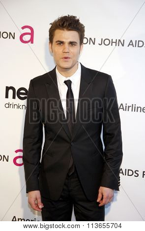 Paul Wesley at the 21st Annual Elton John AIDS Foundation Academy Awards Viewing Party held at the West Hollywood Park in Los Angeles, USA on February 24, 2013.
