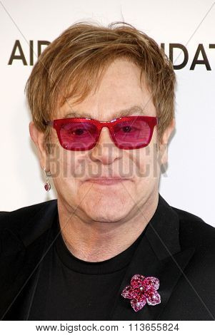 Sir Elton John at the 21st Annual Elton John AIDS Foundation Academy Awards Viewing Party held at the West Hollywood Park in Los Angeles, USA on February 24, 2013.
