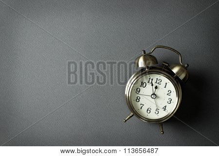 Alarm Clock Showing Almost 12 O Clock