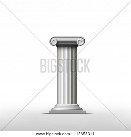 Antique Column. Stock Illustration.