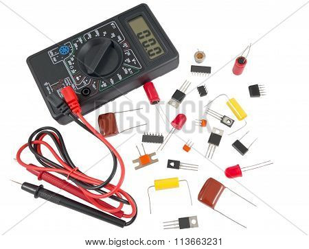 Digital Multimeter And Radio Components