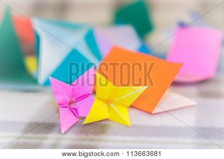 Teaching How To Make Lilly From Small Piece Of Origami
