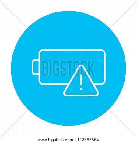 Empty battery line icon.
