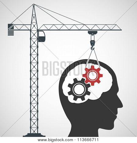 Intelligence Concept. Stock Illustration.