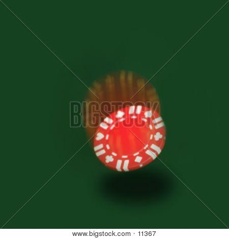 Falling Poker Chip