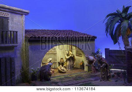 Biblical Magi. Christmas Nativity Scene