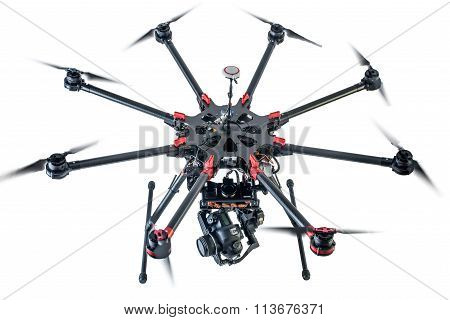 octocopter drone with digital camera