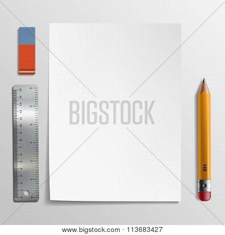 White Sheet. Stock Illustration.