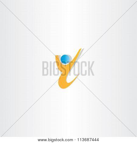 Yellow Man Letter Y Winner Icon