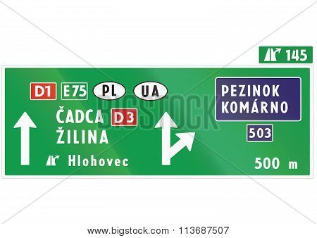 Road Sign Used In Slovakia -