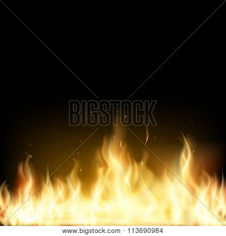 Red Fire. Stock Illustration.