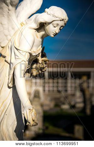Statue In The Cemetery