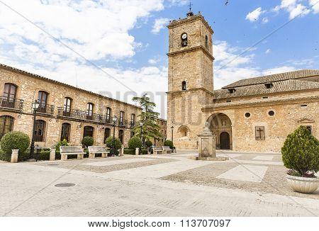 San Antonio Abad church in El Toboso, Toledo, Spain