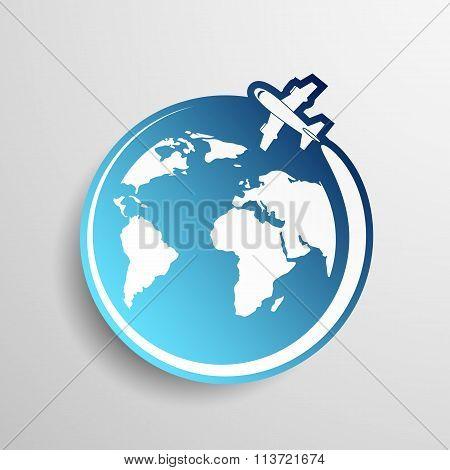 Logo Airplane. Stock Illustration.