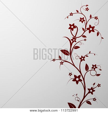 Floral Background. Stock Illustration.