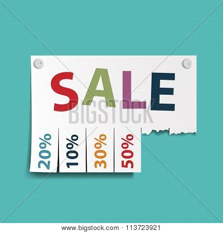 Advertising Discounts.  Stock Illustration.