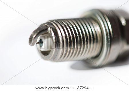 New Spark Plug Isolated On White Background